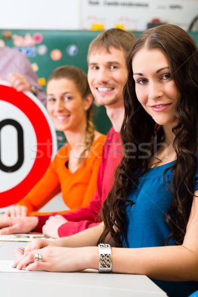 Driving students in a class Stock photo © Kzenon