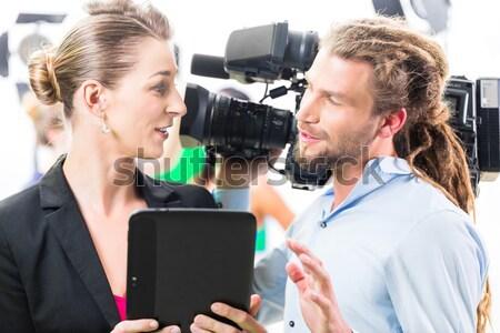 ストックフォト: 映画 · チーム · 方向 · ビデオ · 生産