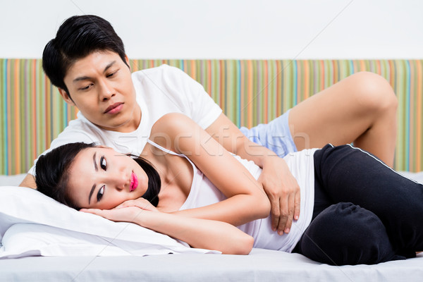 Chinese couple having marital issues heading for divorce Stock photo © Kzenon