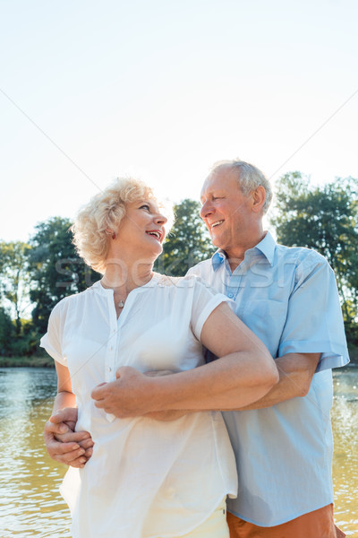 Stock photo: Romantic senior couple enjoying a healthy and active lifestyle