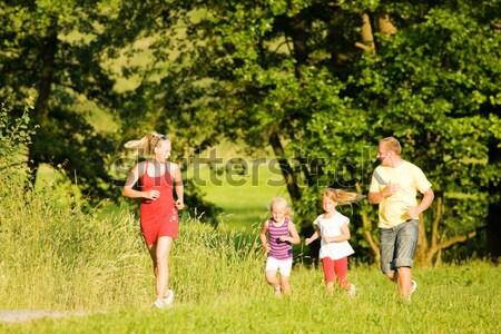 семьи природы фитнес тренер Сток-фото © Kzenon