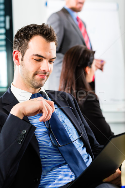 Business - businesspeople have team meeting Stock photo © Kzenon