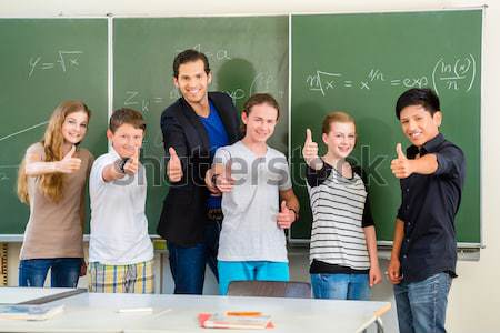 school class teacher motivating students  Stock photo © Kzenon