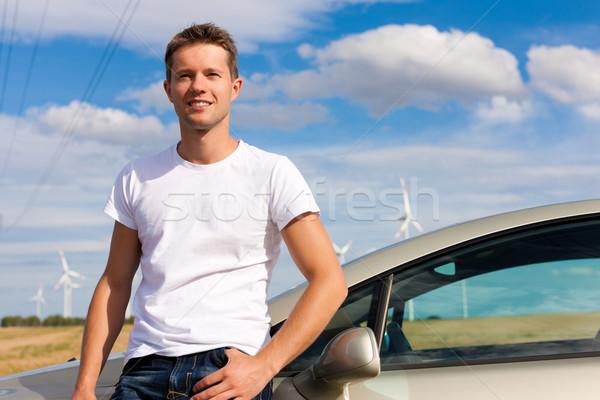 Man leaning on his car Stock photo © Kzenon