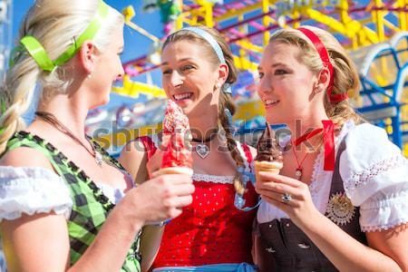 Stock photo: Girls on Rose Monday celebrating German Fasching Carnival