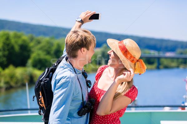 Rio cruzeiro verão feliz Foto stock © Kzenon
