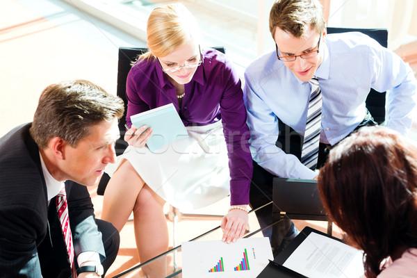 Ludzi biznesu spotkanie biuro warsztaty działalności kobieta Zdjęcia stock © Kzenon
