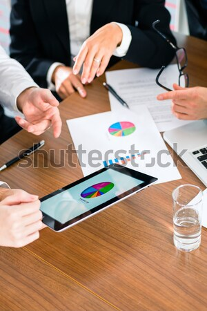 Business - Businesspeople working with tablet Computer Stock photo © Kzenon