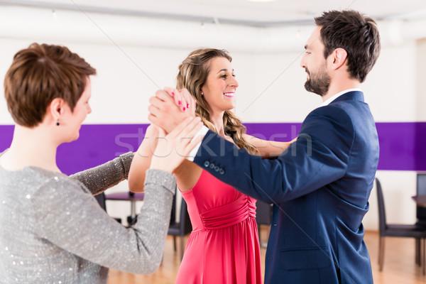 Instructor in dance school with couple Stock photo © Kzenon