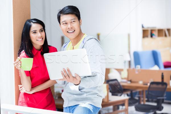 Dois determinado planejamento bem sucedido estratégia de negócios Foto stock © Kzenon
