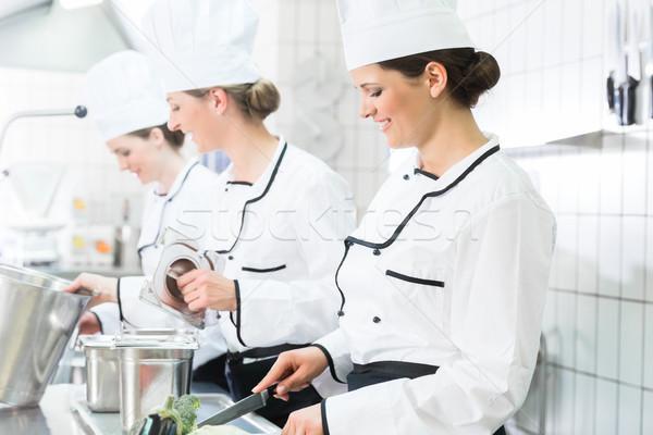 Zdjęcia stock: Handlowych · kuchnia · zespołu