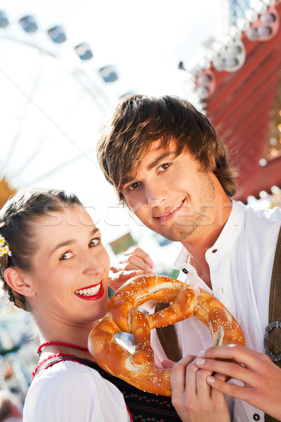 Stock photo: Couple in Tracht on Dult or Oktoberfest