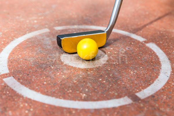 Miniatura golf club palla stile di vita Foto d'archivio © Kzenon