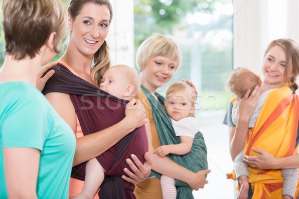 Csoport nők tanul baba nő gyerekek Stock fotó © Kzenon