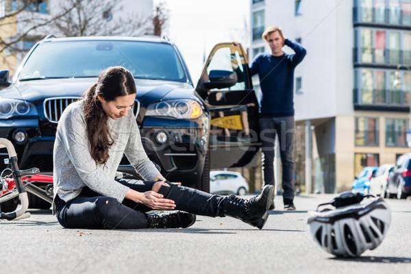 Poważny ruchu wypadku Zdjęcia stock © Kzenon
