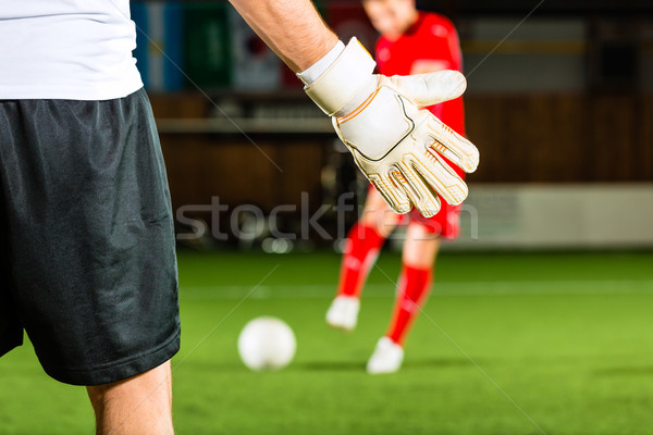 Man scoring a goal Stock photo © Kzenon