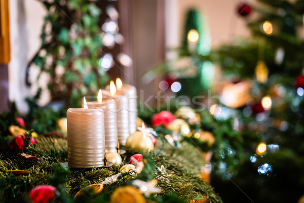 Рождества домой украшение приход семьи Сток-фото © Kzenon