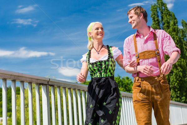 çift adil birlikte kostüm deri Stok fotoğraf © Kzenon