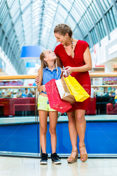 Maman fille magasin femme enfant Photo stock © Kzenon