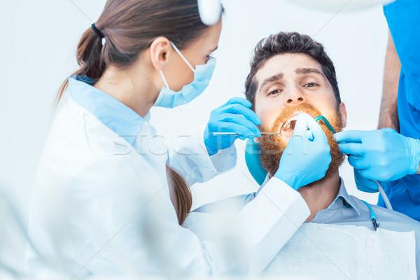 若い男 経口 歯科 オフィス 肖像 ストックフォト © Kzenon