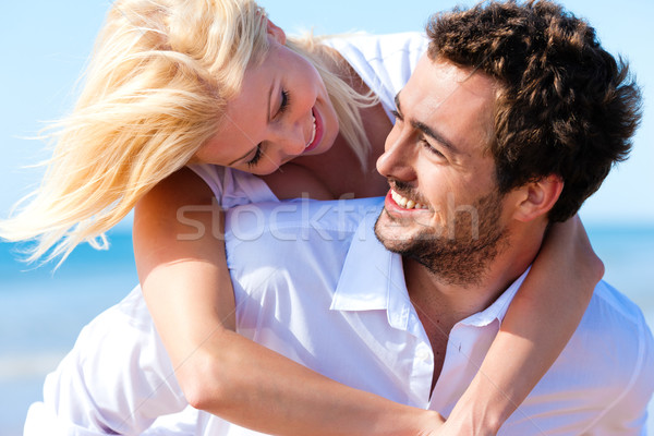 Couple in love on summer beach  Stock photo © Kzenon
