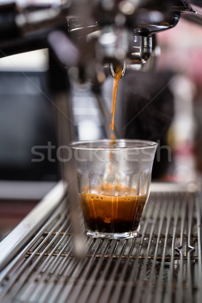 Detalle café expreso café especialidad vidrio beber Foto stock © Kzenon