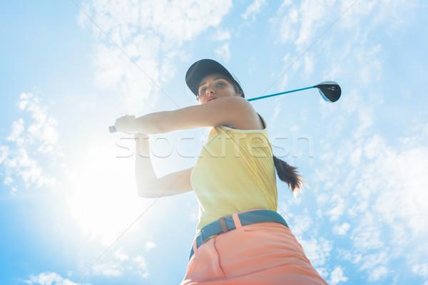 Feminino profissional jogador ferro clube Foto stock © Kzenon