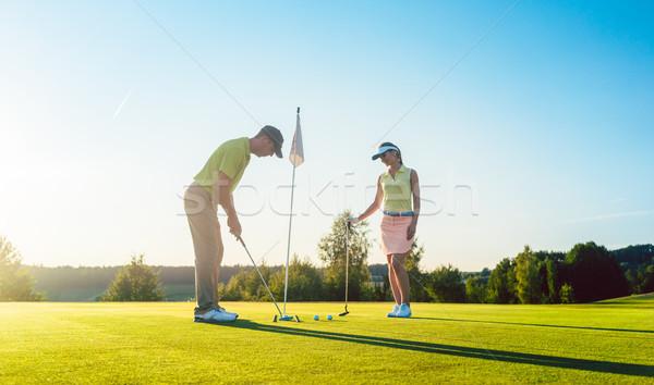 человека готовый мяч для гольфа игры партнера Сток-фото © Kzenon