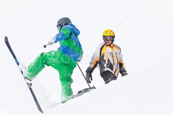 лыжник снега глядя альпийский зима Сток-фото © Kzenon