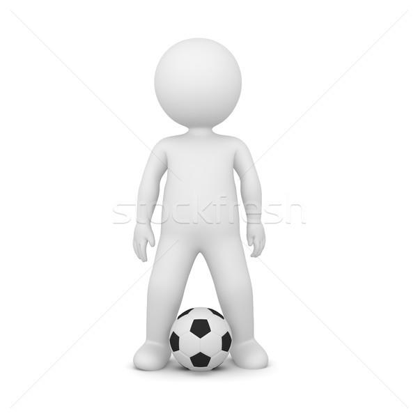 3D piłkarz biały stałego człowiek Zdjęcia stock © Kzenon
