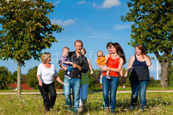 Család jókedv legelő nyár anya apa Stock fotó © Kzenon