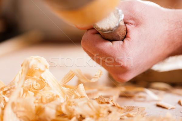 Timmerman beitel hamer werken workshop Stockfoto © Kzenon