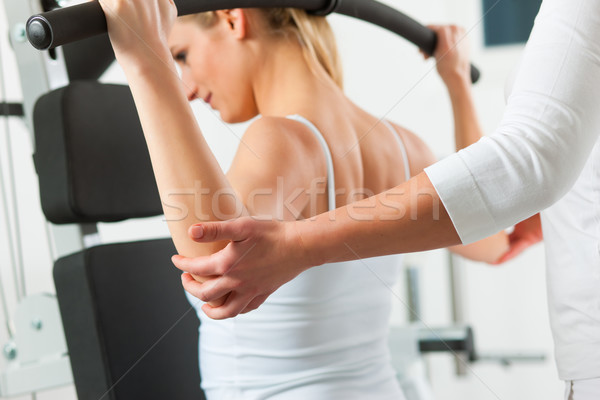 Patient at the physiotherapy  Stock photo © Kzenon