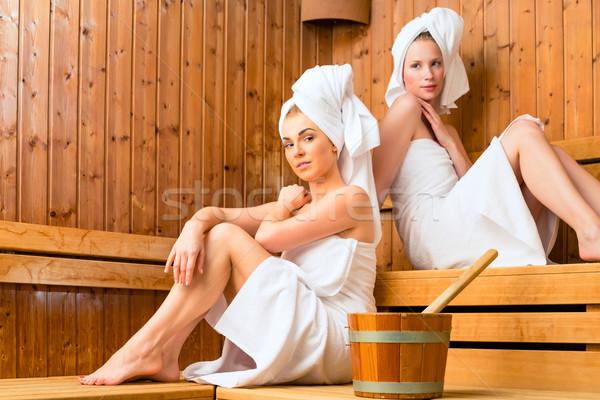 Bien-être spa sauna perfusion Photo stock © Kzenon