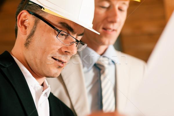 Architecte construction ingénieur plan discussion Photo stock © Kzenon