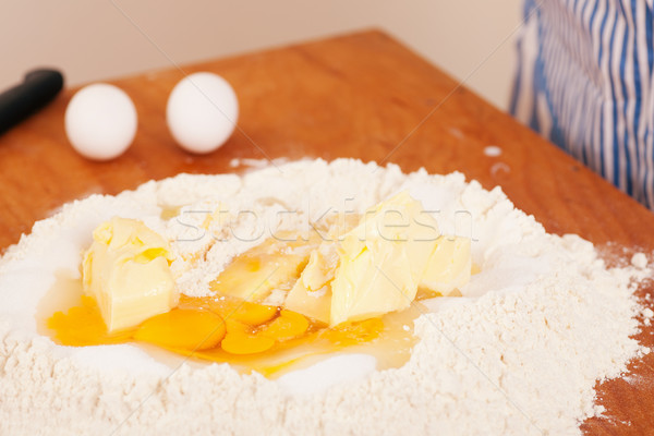 Galletas ingredientes listo mesa huevos Foto stock © Kzenon