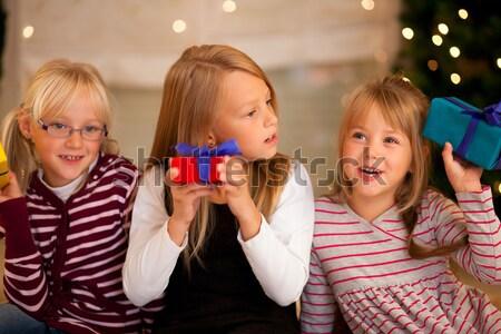 Bambini musica Natale giovani flauti Foto d'archivio © Kzenon