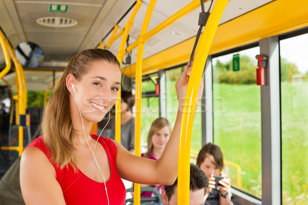 Female passenger in a bus Stock photo © Kzenon