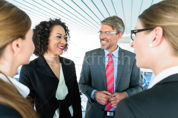 Conversation bureau affaires homme Photo stock © Kzenon