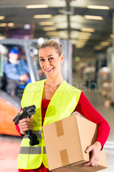 worker holds package in warehouse of forwarding Stock photo © Kzenon