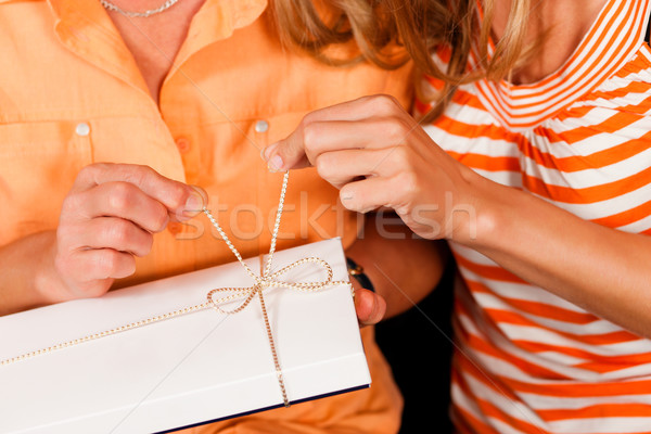 Mother and daughter with gift Stock photo © Kzenon