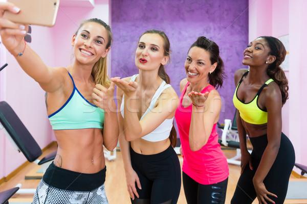 красивой женщины радости Здоровый образ жизни четыре Сток-фото © Kzenon