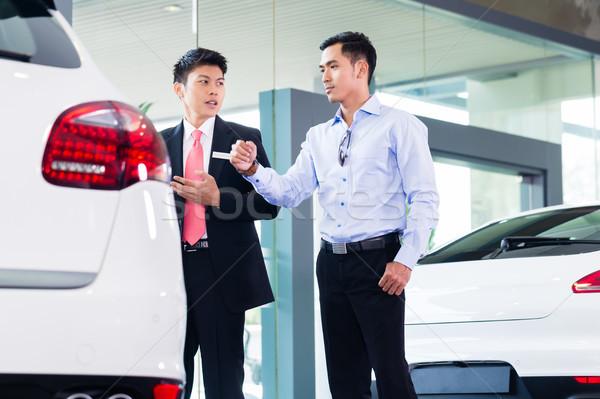 ázsiai autó eladó elad autó vásárló Stock fotó © Kzenon
