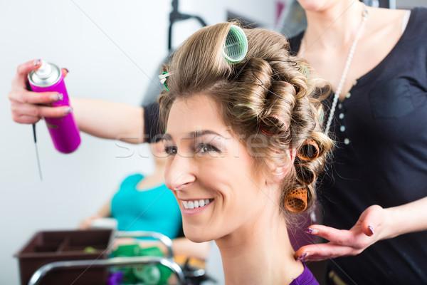 парикмахер волос стилист женщины клиентов женщину Сток-фото © Kzenon
