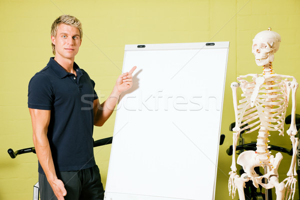 anatomy in gym Stock photo © Kzenon