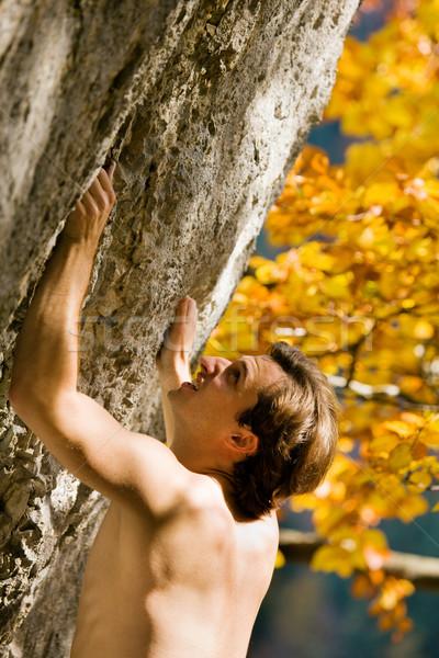 Free Solo Climbing Stock photo © Kzenon