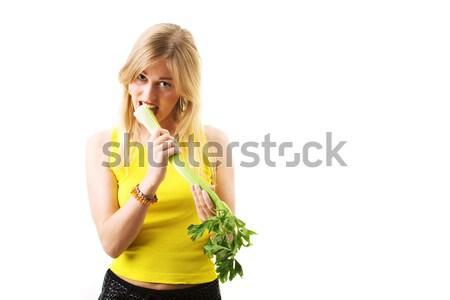 Zeller étel egészséges táplálkozás nő lány Stock fotó © Kzenon