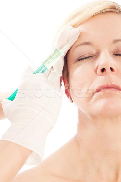 Botox yaş güzellik doktor kadın tıbbi Stok fotoğraf © Kzenon