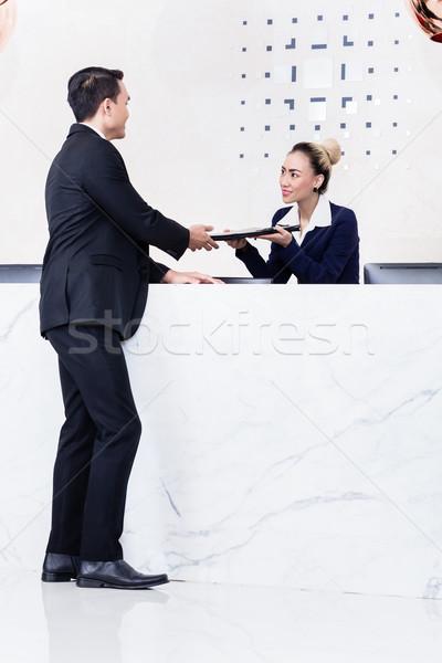 заявитель документы портье работу бизнеса Сток-фото © Kzenon