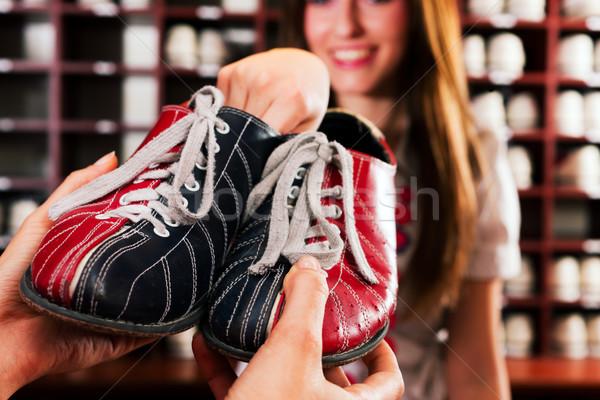 Shoes for bowling Stock photo © Kzenon